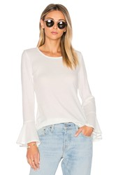 Nytt Bell Sleeve Thermal Tee White