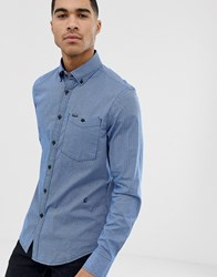 G Star Core Check Slim Fit Shirt In Blue