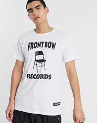 Les Artists Art Ists Front Row Records T Shirt In White