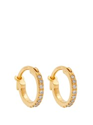 Ileana Makri Diamond And Yellow Gold Earrings