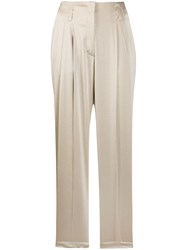 Luisa Cerano Straight Relaxed Fit Trousers Neutrals
