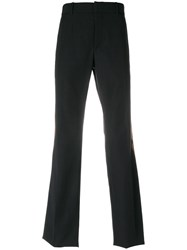 Alexander Mcqueen Paisley Patch Trousers Wool Mohair Polyamide Viscose Black