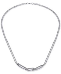 Giani Bernini Cubic Zirconia Baguette Collar Necklace In Sterling Silver Created For Macy's