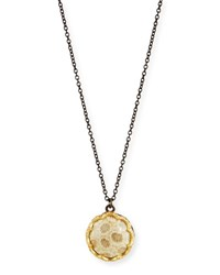 Armenta Old World Fossilized Coral Pendant Necklace