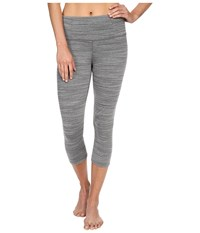 Manduka Essential Capris Dark Heather Grey Women's Capri Gray