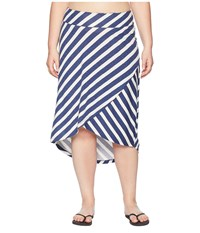 Aventura Clothing Plus Size Janessa Skirt Blue Indigo
