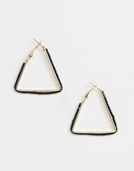 French Connection Triangular Hoop Earrings Gold