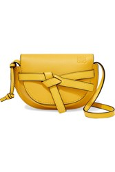 Loewe Gate Mini Textured Leather Shoulder Bag Bright Yellow