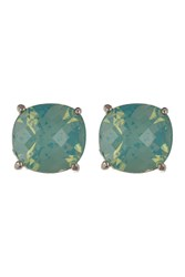 Vince Camuto Faceted Square Stud Earrings Silver 01