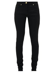 Versace Slim Fit Technical Stretch And Denim Jeans Black