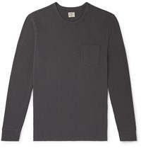 Faherty Slub Cotton Jersey T Shirt Gray