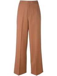 Helmut Lang Wide Leg Trousers Brown