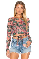 For Love And Lemons Orchid Crop Top Pink