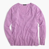 J.Crew V Neck Swing Sweater Hthr Lavender