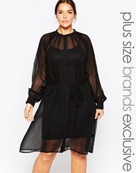 Carmakoma Premium Mesh Overlay Dress Black