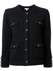 Michael Kors Patch Pocket Cardigan Black