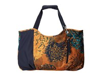 Haiku Day Tote Amber Mum Toss Print Tote Handbags Brown