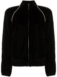 Philosophy Di Lorenzo Serafini Contrast Piping Velour Track Jacket Black