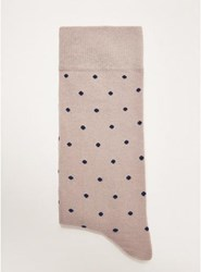 Selected Homme Grey Polka Dot Socks