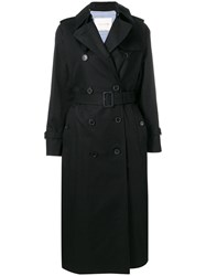 Mackintosh Black Cotton Long Trench Coat Lm