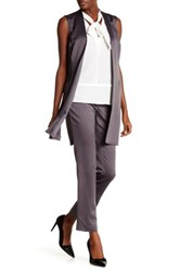 Laundry By Shelli Segal Open Front Vest Gray