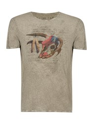 Label Lab Tribal Animal Skull With Text Graphic Grey