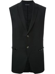 Wan Hung Cheung Sleeveless Tailored Jacket Black