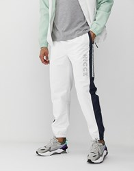 Nicce London Joggers With Side Logo In White