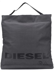 Diesel Metallic Shopping Tote Grey