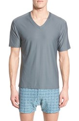 Men's Exofficio 'Give N Go' Mesh V Neck T Shirt Charcoal