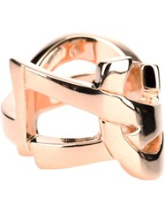 Saint Laurent 'Monogram' Ring Metallic