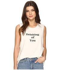 Project Social T Drinking Of You Tank Top Off White Women's Sleeveless
