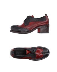Moma Lace Up Shoes Maroon