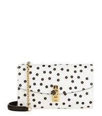 Dolce And Gabbana Polka Dot Printed Shoulder Bag Female White