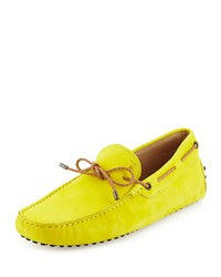 Gommini Scooby Tie Leather Driver Yellow Tod's