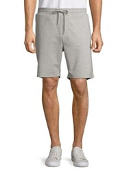 Black Brown Heathered Drawstring Shorts Grey Heather