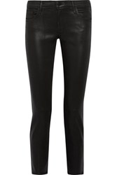 J Brand Hipster Coated Low Rise Skinny Jeans Black