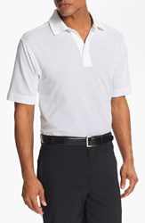 Cutter And Buck Men's Big Tall 'Championship' Drytec Golf Polo White