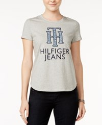 Tommy Hilfiger Logo Graphic T Shirt Only At Macy's Grey Heather