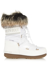 Moon Boot Faux Fur Trimmed Pique Shell Snow Boots