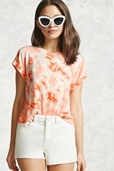 Forever 21 Crystal Dye Cropped Tee