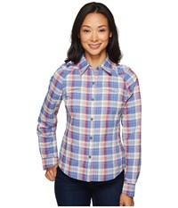 Columbia Silver Ridge Plaid L S Bluebell Mid Scale Dobby Women's Long Sleeve Button Up Multi