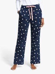 Boden Vanessa Cosy Spotted Pyjama Bottoms French Navy