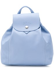Longchamp Snap Fastening Backpack Blue