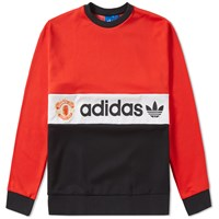 Adidas Mufc '84 Crew Sweat Red