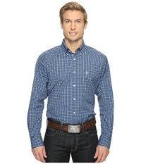 Ariat Alfred Shirt Neoprene Blue Men's Long Sleeve Button Up