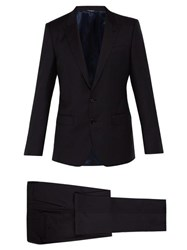 Dolce And Gabbana Martini Slim Fit Wool Suit Navy