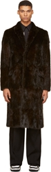 Givenchy Dark Brown Musquash Fur Long Overcoat