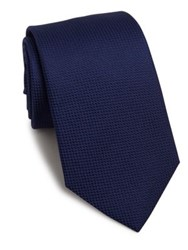 Eton Of Sweden Textured Silk Tie Navy
