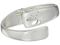 The Sak Perforated Bypass Cuff Bracelet Silver Bracelet